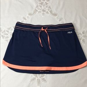 FILA Sneak Preview Blue, Peach Tennis Skort XL